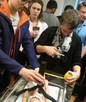 NC Statedesign studentsassess bassinet needs.