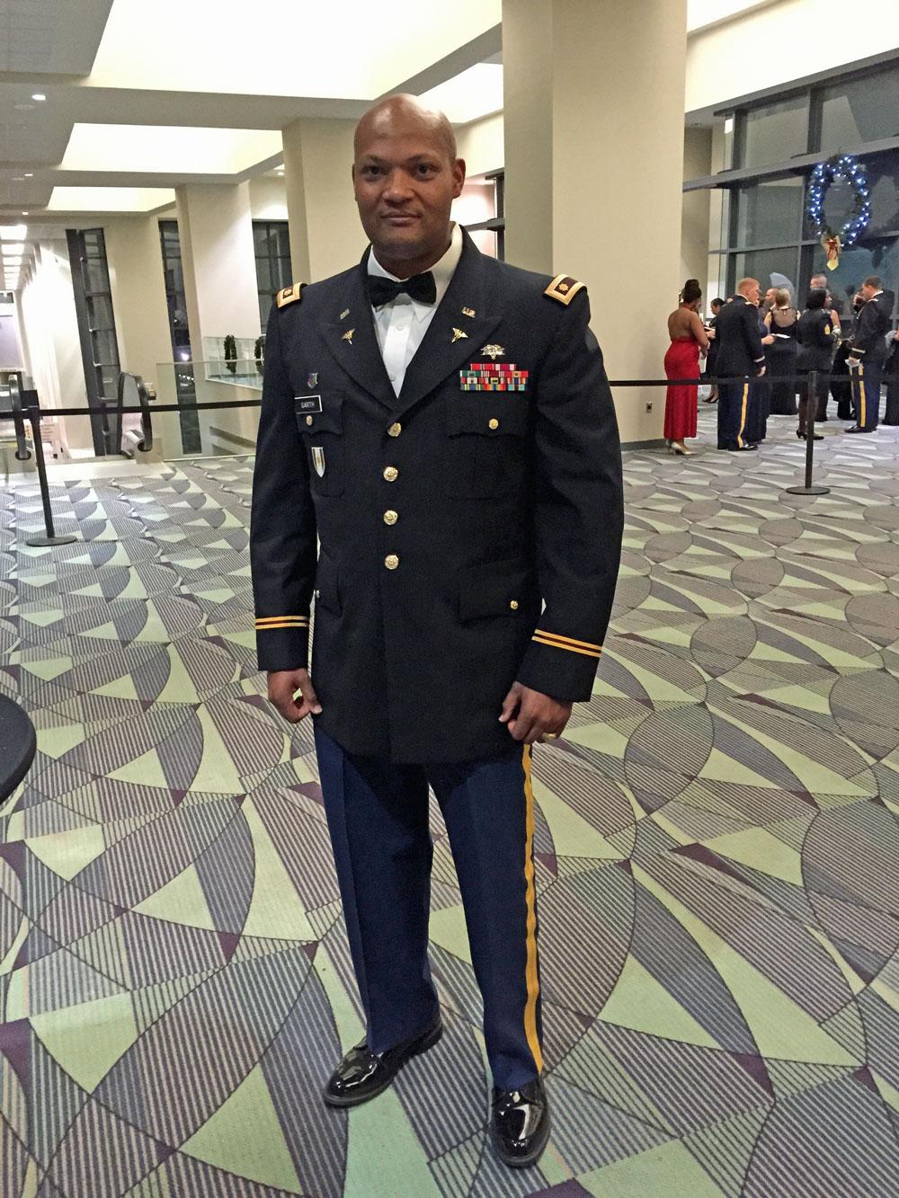 Kerry Garth in uniform