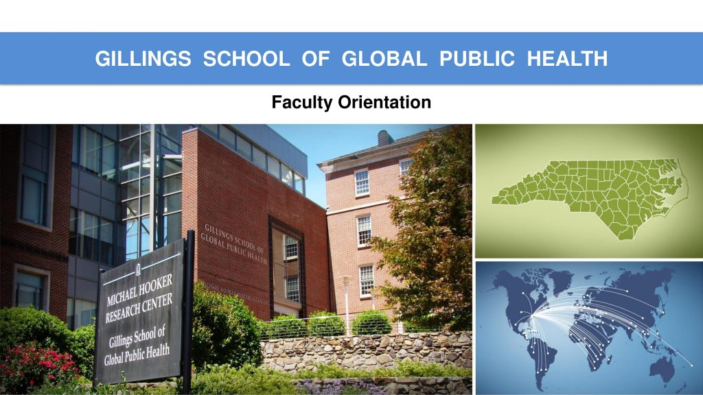 Faculty Orientation front page