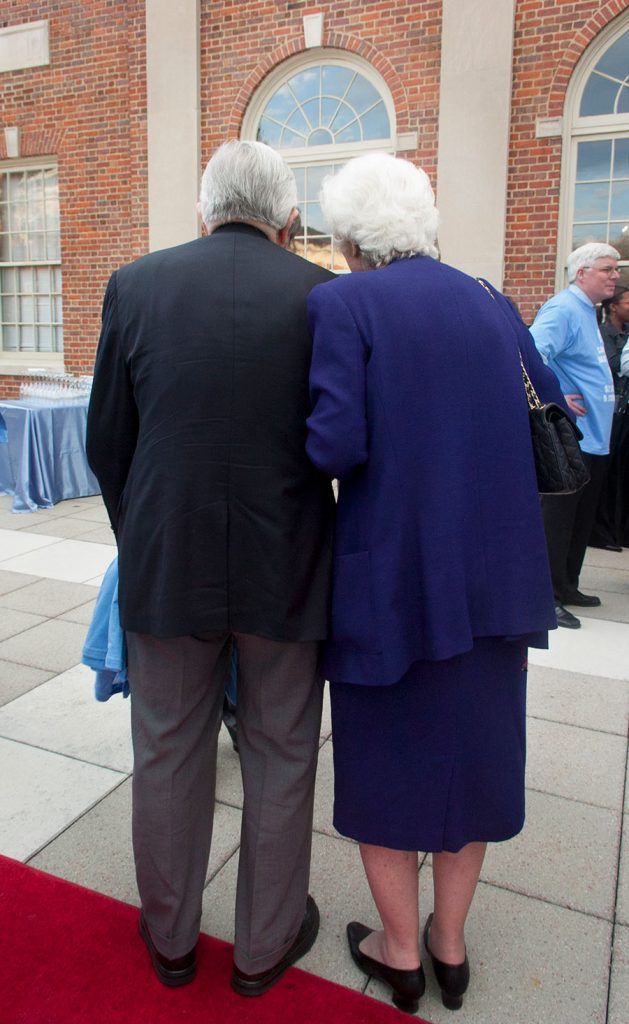 Bill and Ida Friday attend a UNC event in 2008.