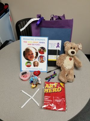 These are the contents of a UNC Hospitals Pediatric Stroke Hero bag. (Contributed photo)