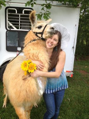 Jennie hasn't met a llama she doesn't like. (Contributed photo)