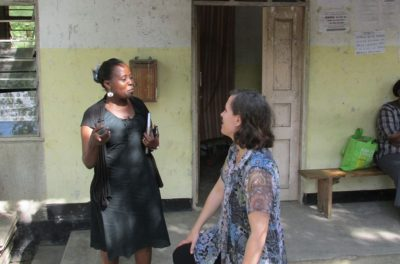 Dr. Suzanne Maman is pictured doing research in Tanzania.