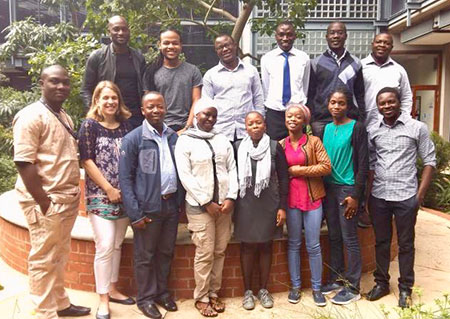 Master's students in implementation science at The University of the Witwatersrand, in Johannesburg, South Africa, pose with Dr. Audrey Pettifor (front row, second from left).