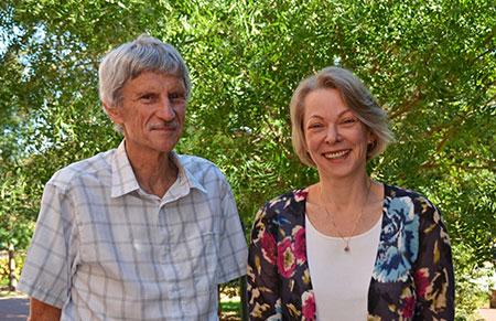 Drs. David Couper (left) and Anastasia Ivanova