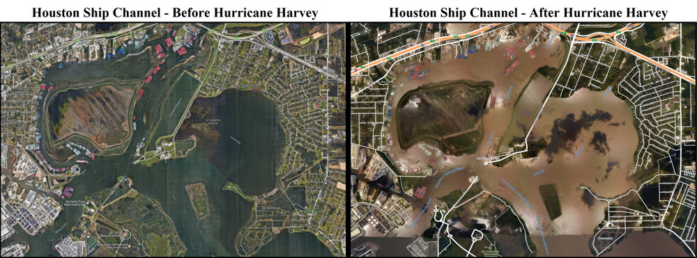 Houston Ship Channel flooding levels during Hurricane Harvey (8/27/17 - 9/03/17)