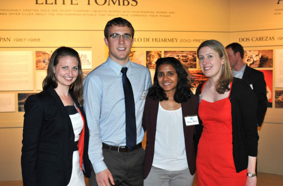 Former students attend an alumni event.