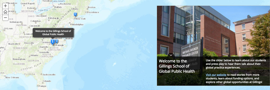 Screen shot of the global practicum map.