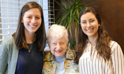 Colleen Boyle, Gladys Siegel, and Ponta Abadi. Boyle and Abadi were this year's winners of the Earl and Gladys Siegel Award.