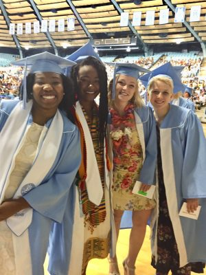 Happy Grads at the 2018 Gillings School Commencement
