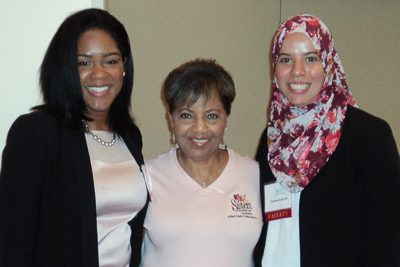 Photo: Crystal Dixon, Nora Jones and Fatima Guerrab (left to right)