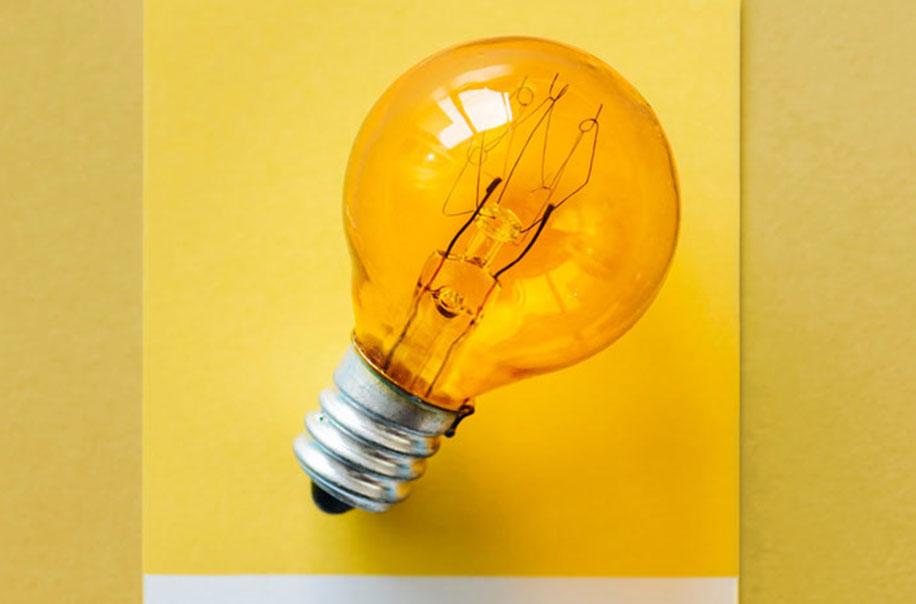 A lightbulb serves as a representation for innovation.