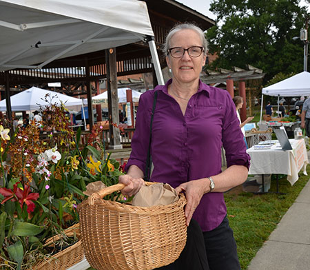 Dr. Alice Ammerman shops at the Carrboro Farmers Market.