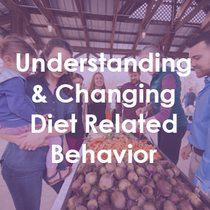 Text reads Understanding and Changing Diet Related Behavior