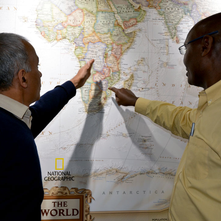 Clinicians discuss their work in Africa.