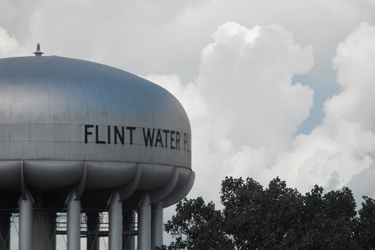 Water tower, Flint, Mich.