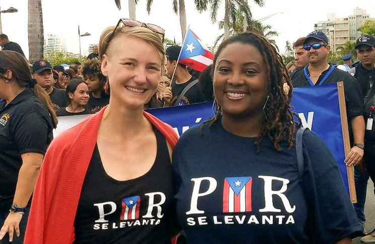 Students visit Puerto Rico to help with disaster relief.