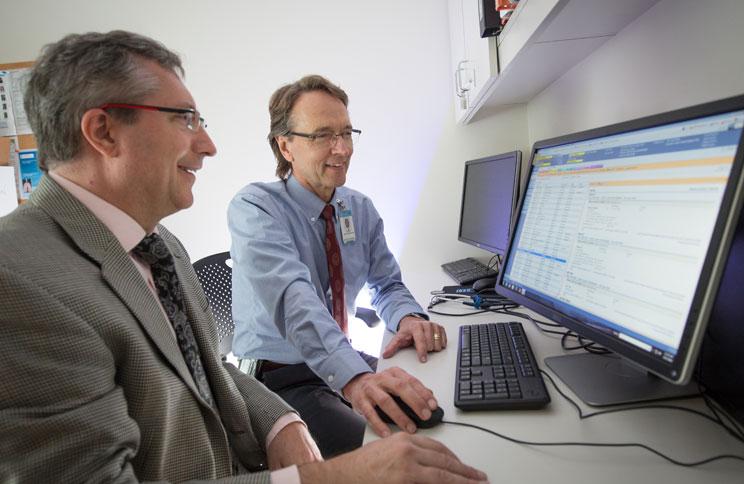 Dr. Kosorok analyzes data.