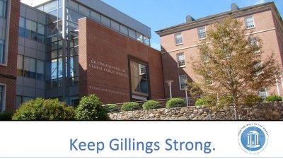Keep Gillings Strong presentation title slide