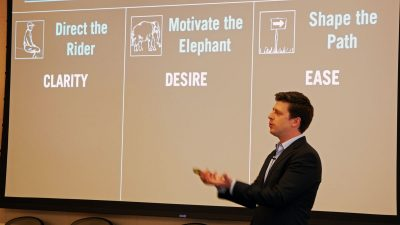 Dan Heath, New York Times bestselling author and professor at Duke University, shares expertise with public health leaders from local health departments across the country