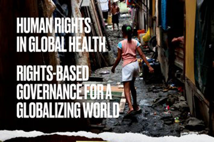 Book cover for Human Rights in Global Health, by Dr. Ben Meier