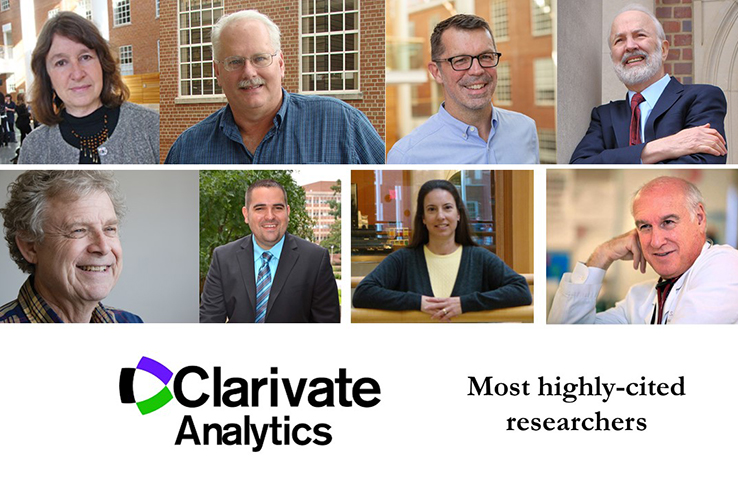 Most highly-cited researchers for 2018 include Drs. Linda Adair, Ralph Baric, Noel Brewer, Barry Popkin, Hans Paerl, Jason Surratt, Kelly Evenson and Myron Cohen
