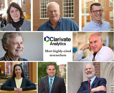 Clarivate Analytics' highly-cited researchers for 2018 include Drs. Adair, Baric Brewer, Cohen, Evenson, Paerl, Popkin and Surratt.