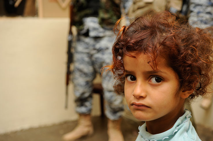 Iraqi girl in Mosul. Photo by DVIDSHUB.