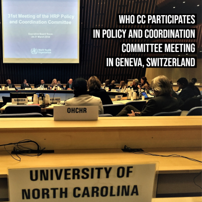 "Text Reads ""WHOCC participates in Policy and Coordination Committee Meeting in Geneva, Switzerland"""