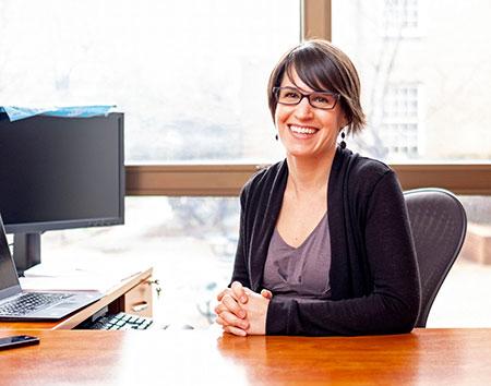 Dr. Sarah Birken, by UNC/Jon Gardiner