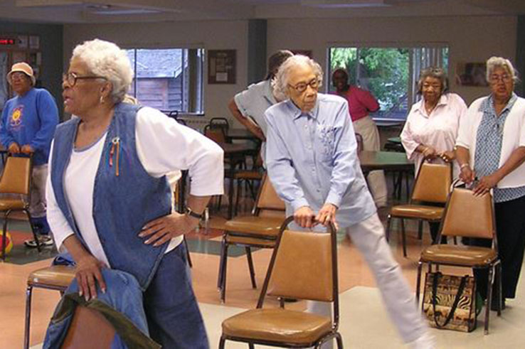 Senior women exercising. Photo courtesy CDC/Project Enhance.