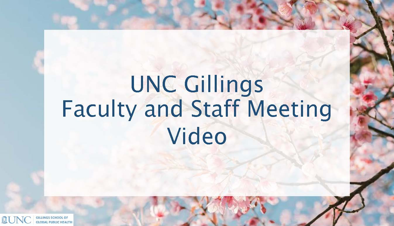 Faculty and Staff Meeting Video Recording