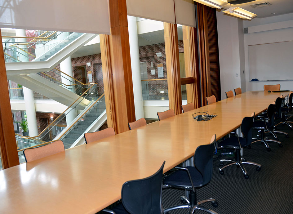 Some meeting rooms overlook the atrium.