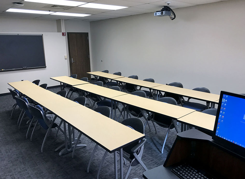 Each classroom provides several technology options.