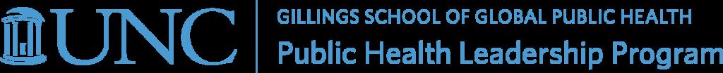 PHLP logo reads UNC Gillings School of Global Public Health Public Health Leadership Program