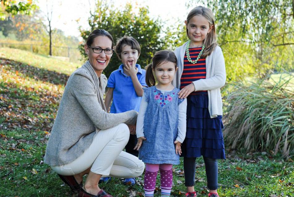 Kiyah Duffey pictured with her children.