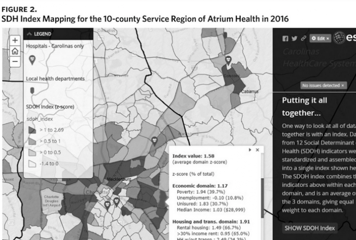 This interactive GIS map helps viewers visualize social determinants of health.