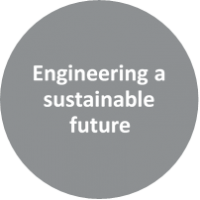 Text reads Engineering a sustainable future.