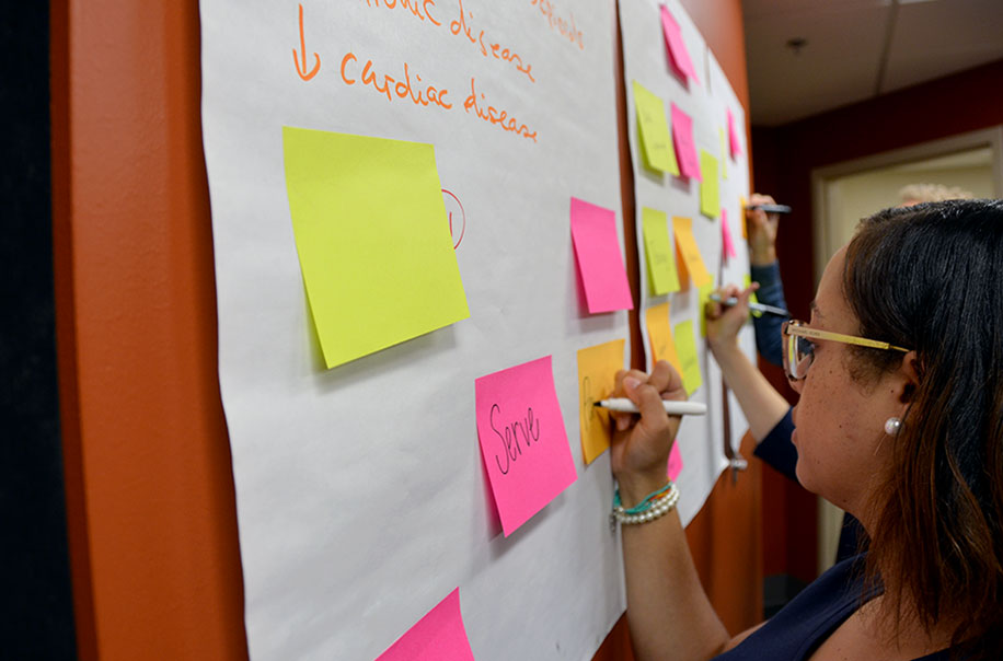 NCIPH members work through a design thinking exercise.