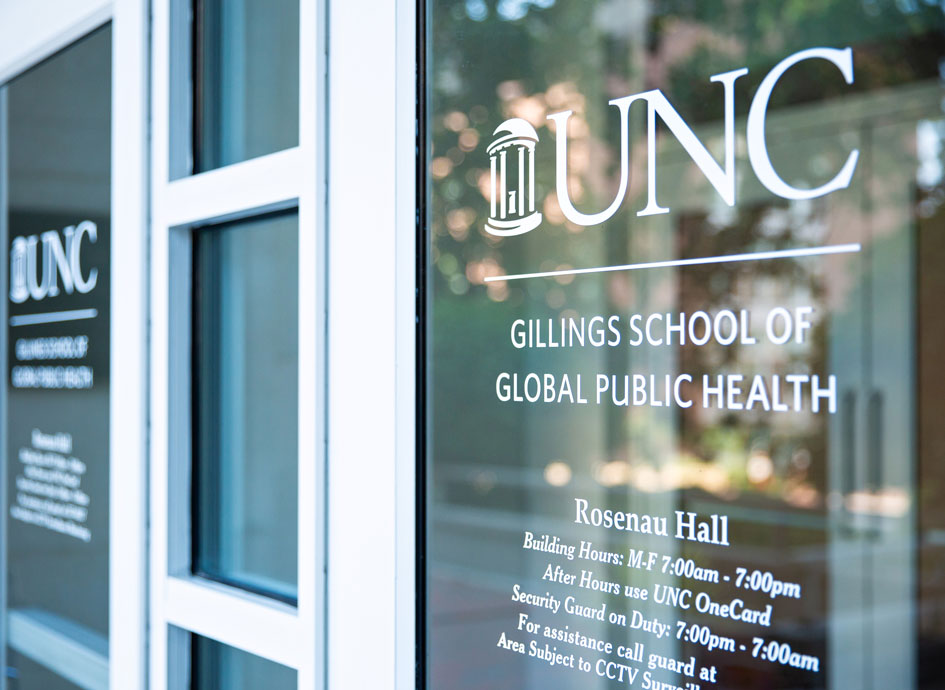 The doors of Rosenau Hall welcome new and returning students.