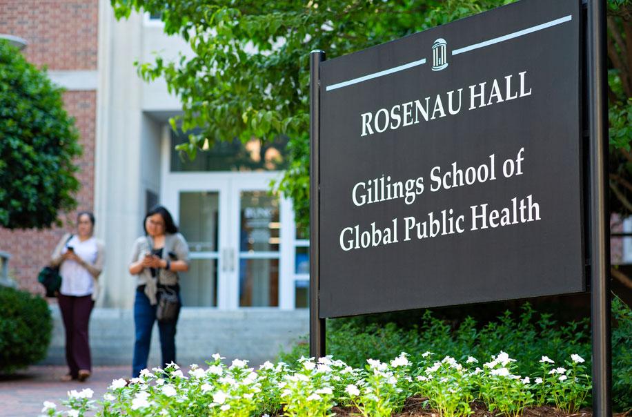 Students leave Rosenau Hall.