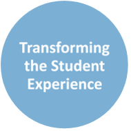 Text reads Transforming the Student Experience.