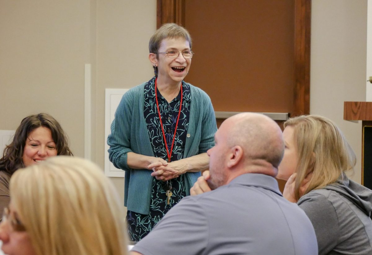 "NCIPH staff lead a ""Happier at Work"" training in 2019"
