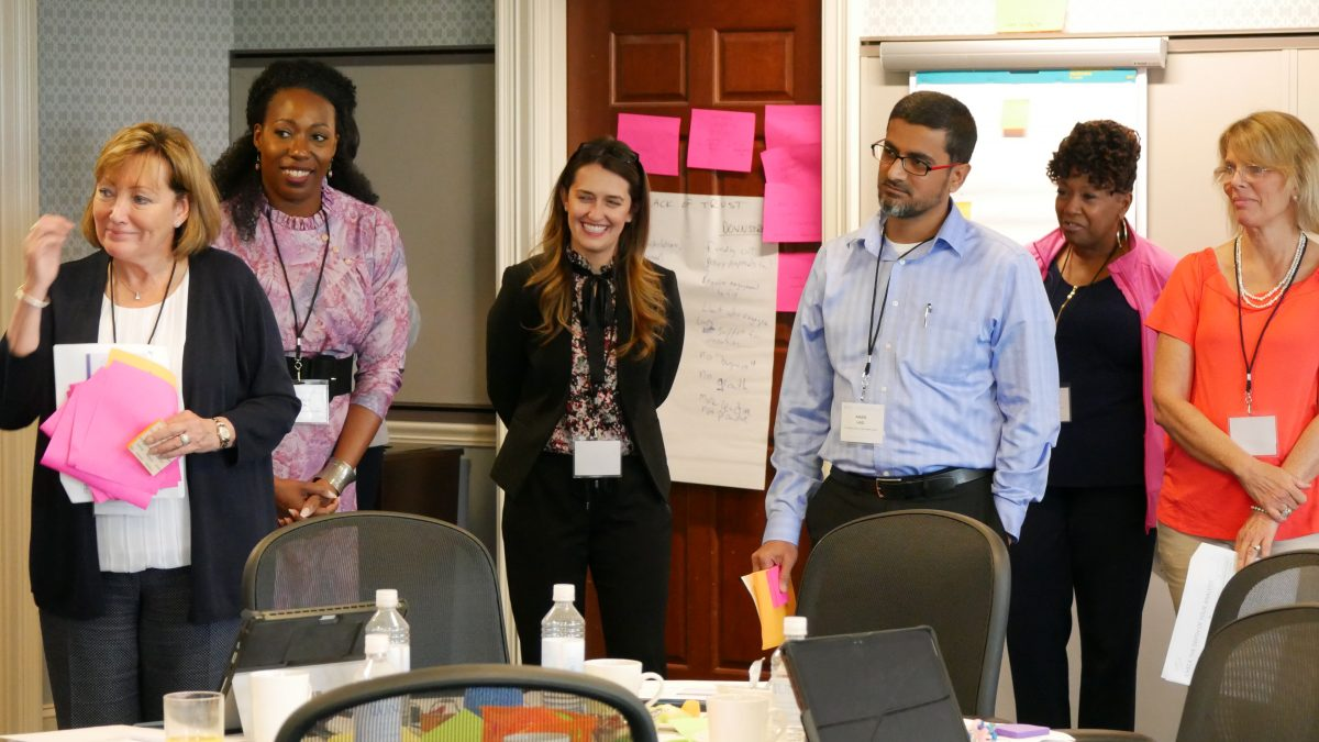 Trainees at an NCIPH training engage in discussion
