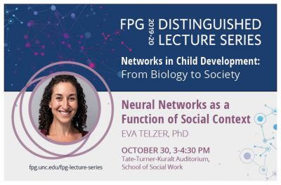 Flyer for FPG Lecture featuring Eva Telzer