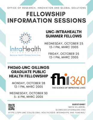 Fellowship Information Sessions Flyer