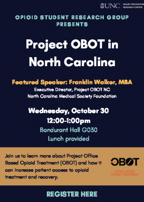 Poster for Project OBOT Talk Featuring Franklin Walker