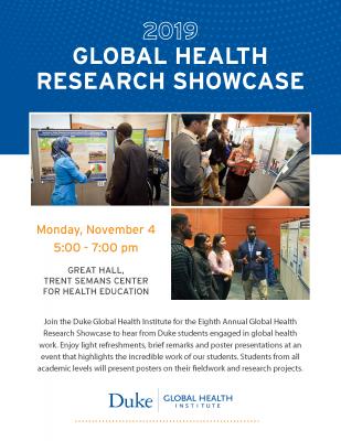 Duke Global Health Research Showcase Flyer 2019