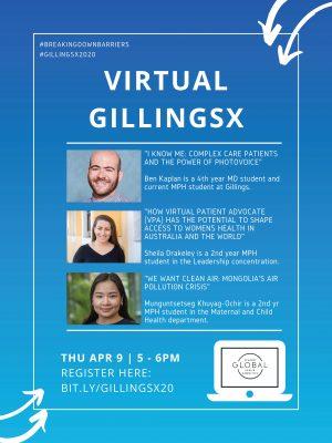 GillingsX 2020: Breaking Down Barriers poster