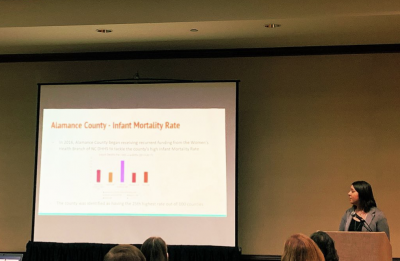 Jessica Johnson presents at the NCPHA Conference.